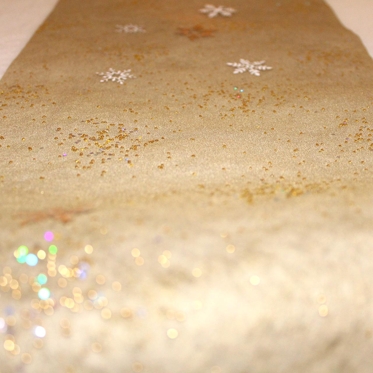 tischl ufer vlies gold glitzer 5 lfm tischdeko geschenke. Black Bedroom Furniture Sets. Home Design Ideas