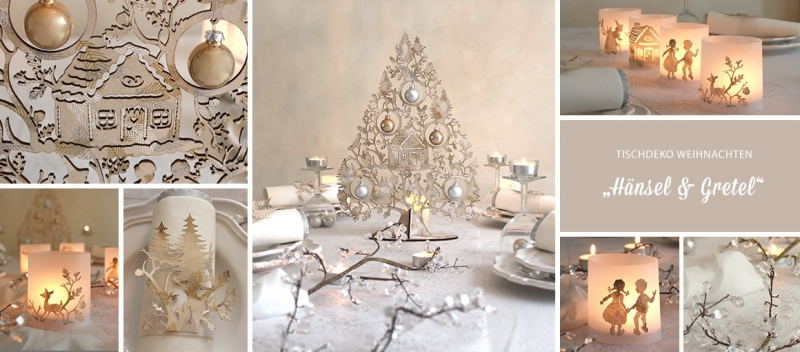 Tischdeko weihnachten braun  Tischdekoration Weihnachten Hänsel und Gretel
