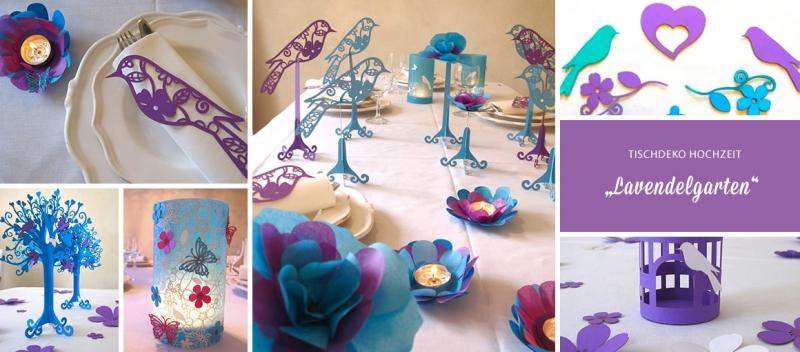 tischdeko hochzeit lila t rkis lavendelgarten tischdeko geschenke. Black Bedroom Furniture Sets. Home Design Ideas