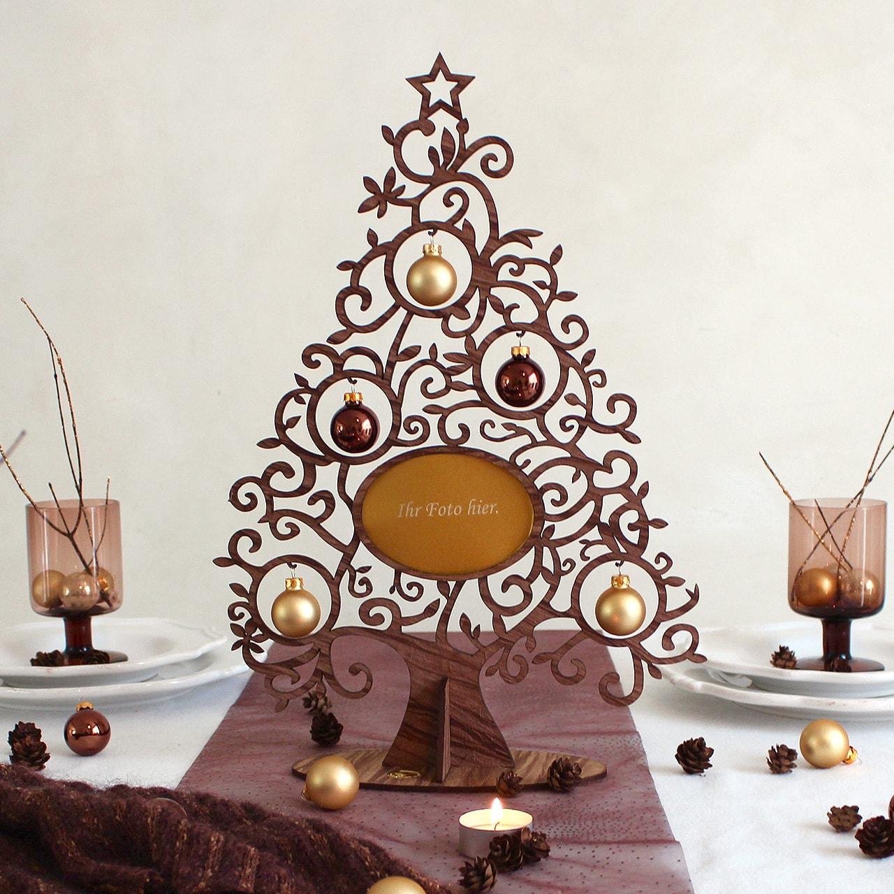 deko weihnachten bilderrahmenbaum tischdeko geschenke. Black Bedroom Furniture Sets. Home Design Ideas