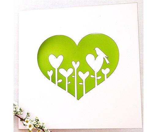 Hochzeitskarte Mit Herziger Blumenwiese Karten Hochzeit