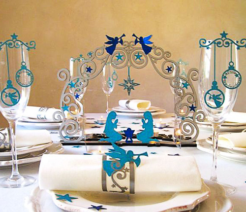 Weihnachtsdeko himmelstor tischdeko objekte tischdeko - Weihnachtsdeko blau ...