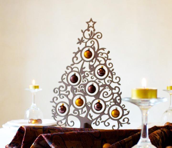 Weihnachtsdeko christbaum metallic braun mit 8 kugeln aus glas weihnachtsb ume geschenke - Glas mit kugeln dekorieren ...