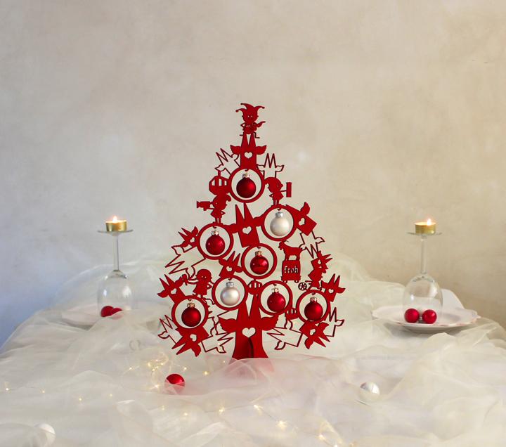 weihnachtsdeko christbaum 40cm frohes k ln tischdeko. Black Bedroom Furniture Sets. Home Design Ideas