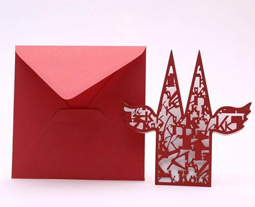 k ln domklappkarte mit einleger k ln shop tischdeko geschenke. Black Bedroom Furniture Sets. Home Design Ideas